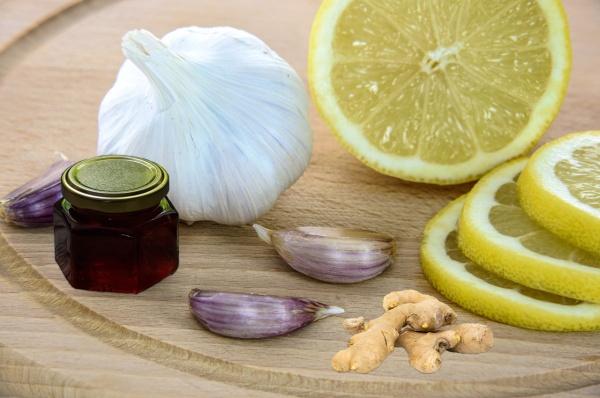 garlic, ginger, honey